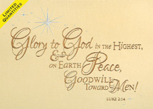 Glory to God Christmas Cards