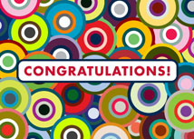 Colorful Targets Congratulations Card