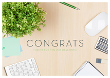 Job Well Done! Congratulations Card