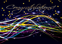Fiber Optic Congratulations Card